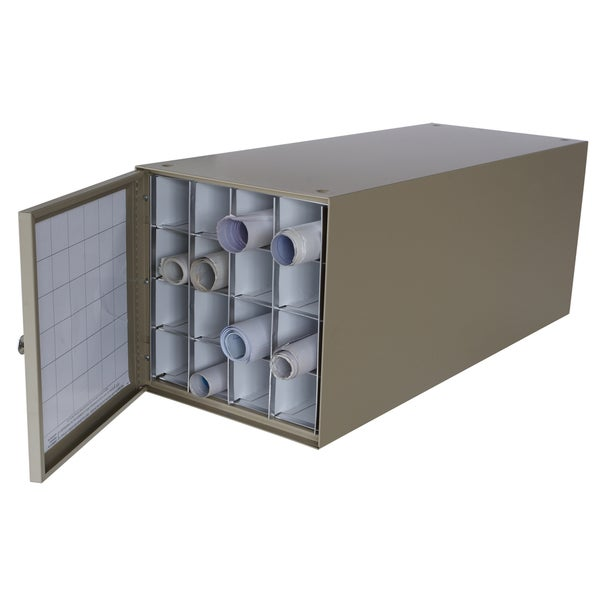 Adir 16-compartment Stackable Steel Roll File