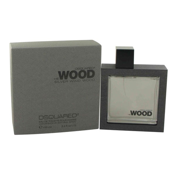 Dsquared2 He Wood Silver Wind Wood Men's 3.4-ounce Eau de Toilette Spray