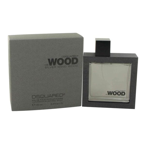 Dsquared2 He Wood Silver Wind Wood Men's 3.4-ounce Eau de Toilette Spray