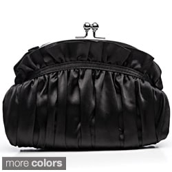 J. Furmani Scrunched Satin Clutch Bag