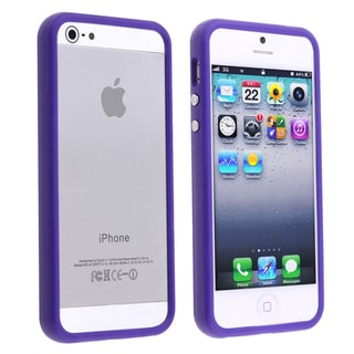 BasAcc Dark Purple Bumper TPU Case for Apple iPhone 5
