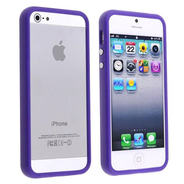 BasAcc Dark Purple Bumper TPU Case for Apple iPhone 5
