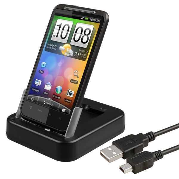 BasAcc 2-in-1 Cradle/ Charger for HTC Desire HD