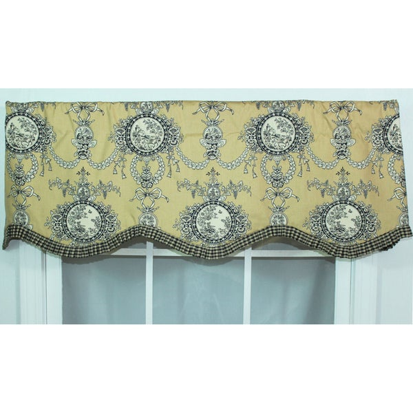 Cameo Toile Gold Provance Valance