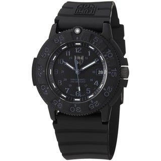 Luminox Men's 'Original' Black Dial Black Rubber Strap Quartz Watch