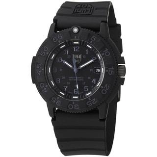 Luminox Men's A.3001.BO 'Original' Black Dial Black Rubber Strap Quartz Watch