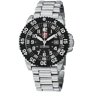 Luminox Men's A.3152 'Colormark' Black Dial Stainless Steel Quartz Watch