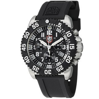 Luminox Men's A.3181 'Colormark' Black Dial Rubber Strap Chronograph Watch