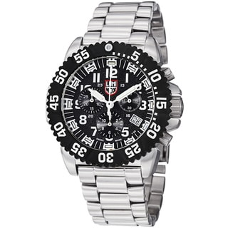 Luminox Men's 'Colormark' Black Dial Chronograph Stainless Steel Watch