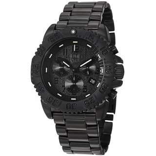 Luminox Men's A.3182.BO 'Colormark' Black Dial Black Stainless Steel Watch