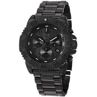 Luminox Men's A.3182.BO 'Colormark' Black Dial Black Stainless Steel Watch