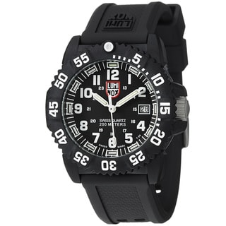 Luminox Men's 'Colormark' Black Dial Rubber Strap Quartz Watch