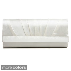 J. Furmani Women's Pleated Flap Clutch