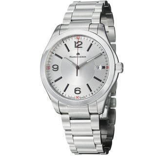 Maurice Lacroix Men's MI1018-SS002-130 'Miros' Silver Dial Stainless Steel Quartz Watch