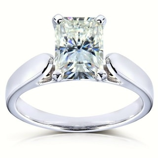 Annello 14k White Gold Moissanite Solitaire Ring