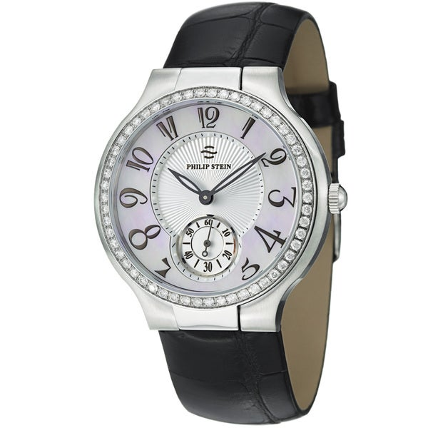Philip Stein Women's 'Novelties' Mother Of Pearl Diamond Dial Watch