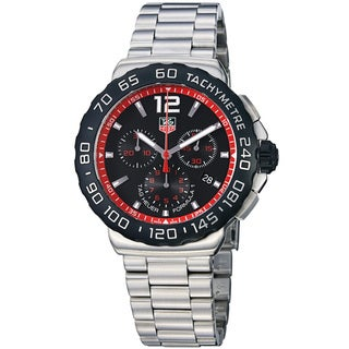 Tag Heuer Men's CAU1116.BA0858 'Formula 1' Water-Resistant Black Dial Stainless-Steel Quartz Watch
