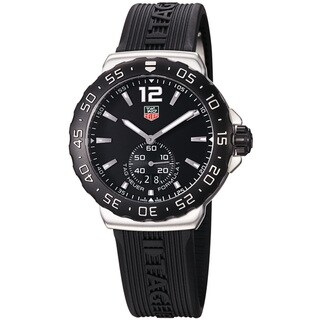 Tag Heuer Men's WAU1110.FT6024 'Formula 1' Black Dial Black Rubber Strap Quartz Watch