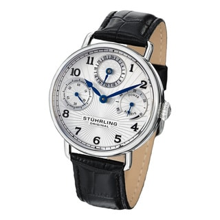 Stuhrling Original Men's Coronate Mechanical Leahter Strap Watch