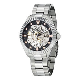 Stuhrling Original Men's Diadem Mechanical Stainless Steel Bracelet Watch