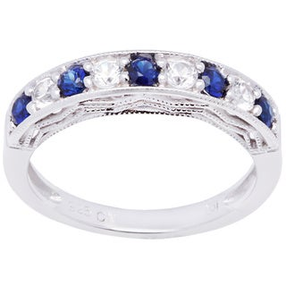 M by Miadora Sterling Silver Round-cut Multi-gemstone Ring
