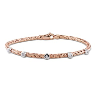 Miadora 14k Rose Gold Diamond Bangle