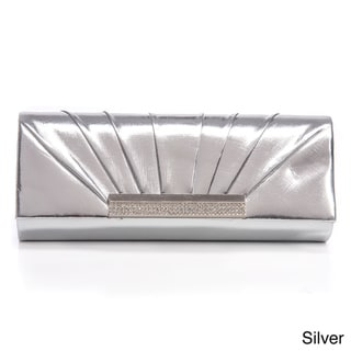 J. Furmani Pleated Metallic Flap Clutch