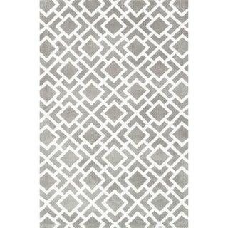 Microfiber Woven Harlow Ash Rug (2'3 x 3'9)