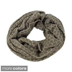 LA77 Women's Metallic Loop Scarf
