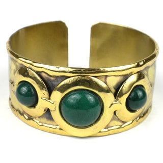 Handcrafted Green Jade Cuff (South Africa)