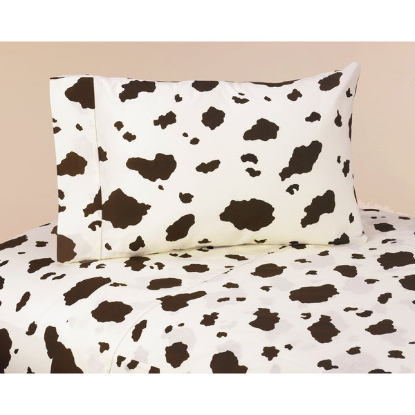 Sweet JoJo Designs 200 Thread Count Wild West Cowboy Bedding Collection Cow Print Sheet Set