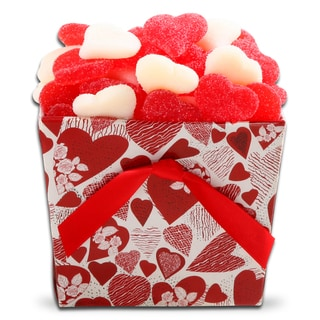 Just for You: Red/ White Valentine Hearts Candy Gift Tote