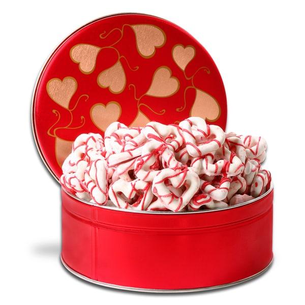 Alder Creek Chocolate-dipped Heart-shaped Pretzels Gift Basket