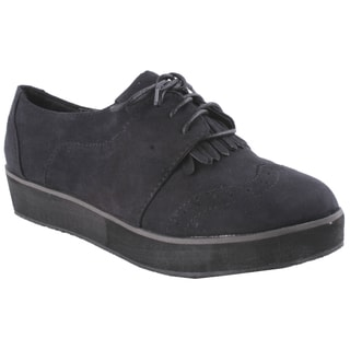 Liliana by Beston Women's 'Berkeley' Black Oxford Shoes