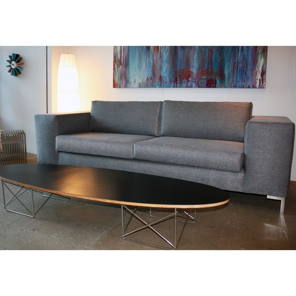 Decenni Custom Furniture 'Otto' Bergamo Licorice Modern 7-foot Sofa
