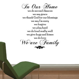 'In Our Home, We Do........' Vinyl Wall Quote Art Decal