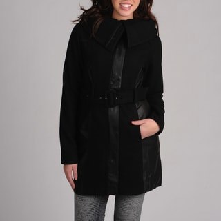 Latte Black Juniors Black Belted Walker Jacket