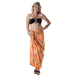 Premium Orange Heavyweight Abstract Sarong (Indonesia)
