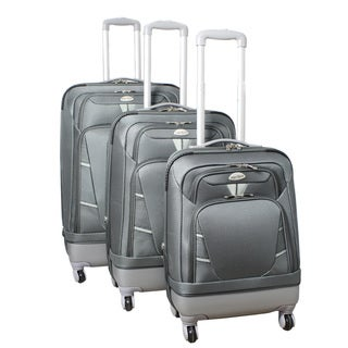 World Traveler Hybrid 3-piece Expandable Lightweight Spinner Luggage Set