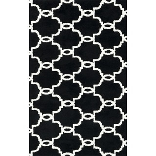 Microfiber Woven Harlow Onyx Rug (2'3 x 3'9)