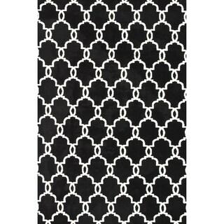 Microfiber Woven Harlow Onyx Rug (5' x 7'6)