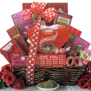 Valentine's Day Chocolate and Sweets Gift Basket