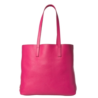 Prada Women's Fuchsia Textured Leather Tote Bag
