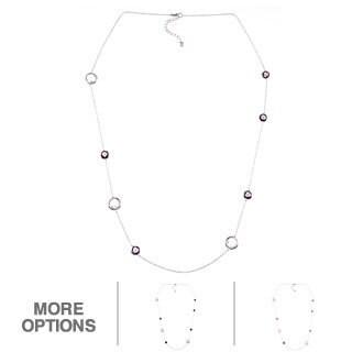 La Preciosa Sterling Silver Multi-gemstone 34.5-inch Necklace