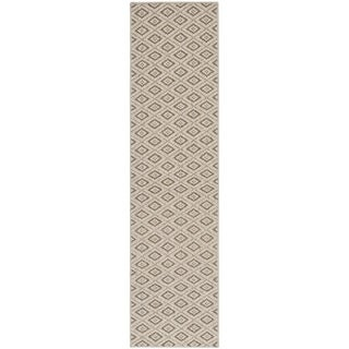 Contemporary Diamonds Taupe Sisal Wool Rug (2' x 8')