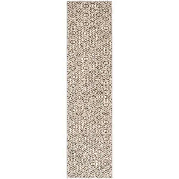 Safavieh Contemporary Diamonds Taupe Sisal Wool Rug (2' x 8')