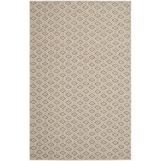 Diamonds Taupe Sisal Wool Rug (5'x 8')