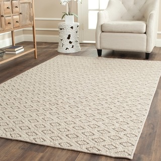 Safavieh Diamonds Taupe Sisal Wool Rug (5'x 8')