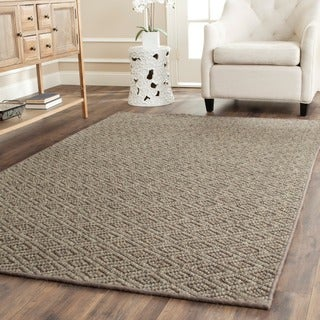 Safavieh Diamonds Natural Sisal Wool Rug (5' x 8')