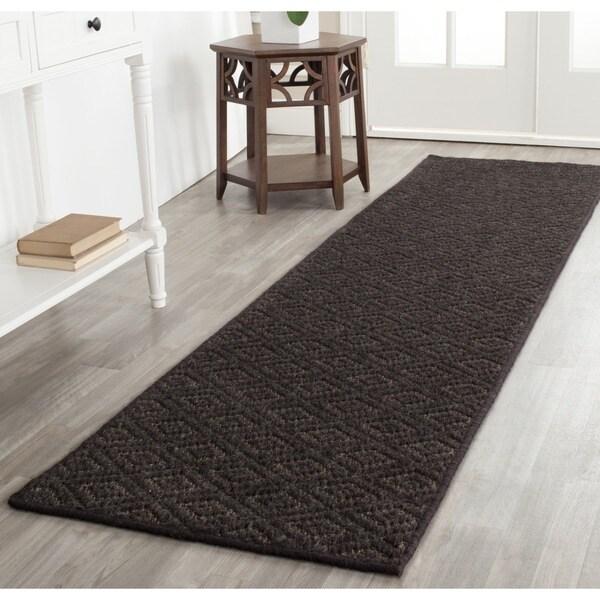 Safavieh Diamonds Brown Sisal Wool Rug (2' x 8')